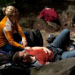 Lounging around while climbing at New River Gorge