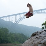 Post climb swim at New River Gorge III